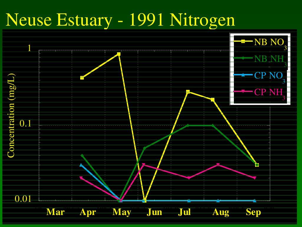 Neuse Estuary - 1991 Nitrogen