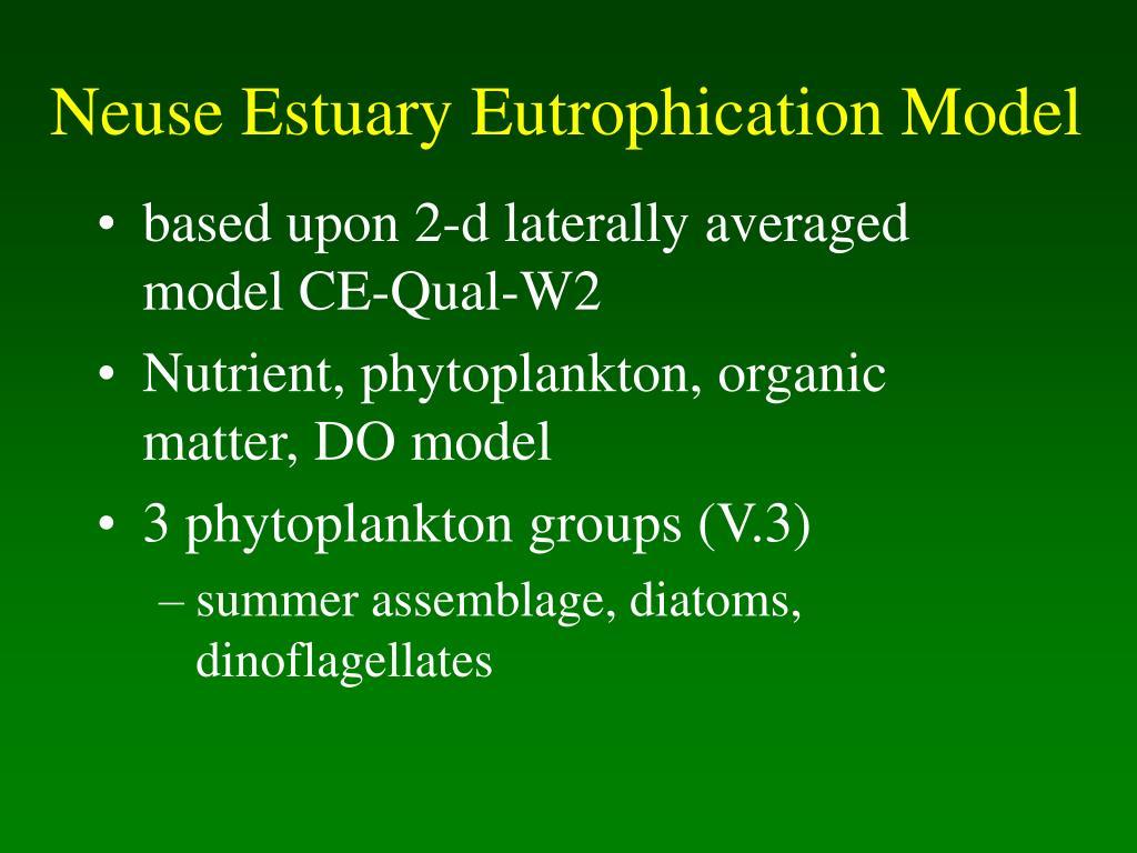 Neuse Estuary Eutrophication Model