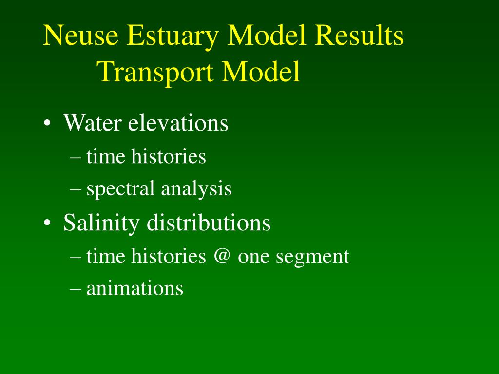 Neuse Estuary Model Results
