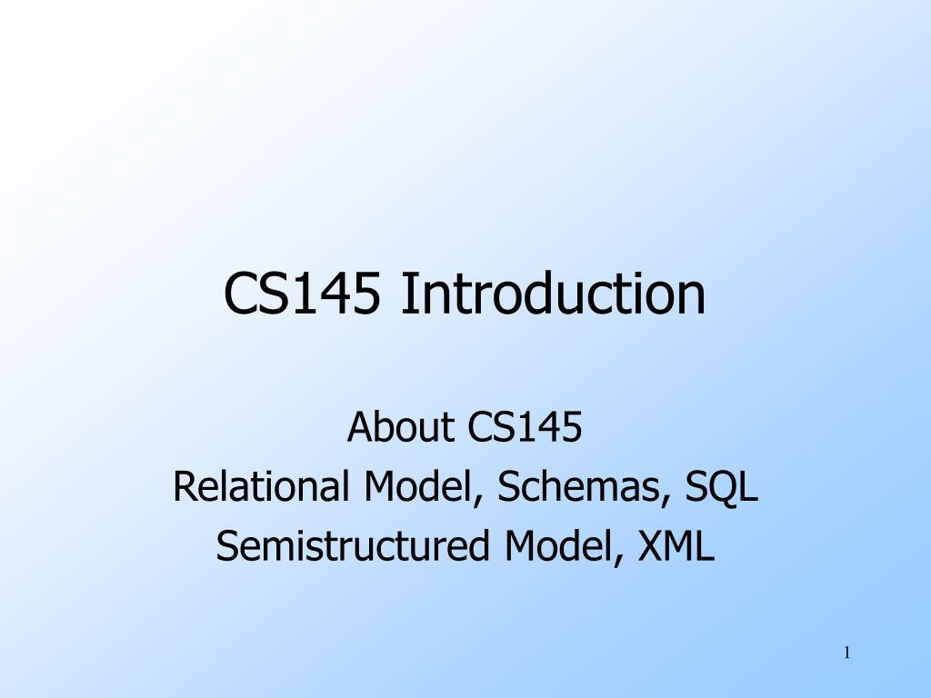 cs145 introduction l.