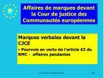 affaires de marques devant la cour de justice des communaut s europ ennes108