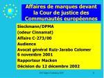 affaires de marques devant la cour de justice des communaut s europ ennes11