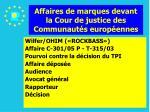 affaires de marques devant la cour de justice des communaut s europ ennes110