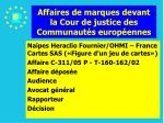 affaires de marques devant la cour de justice des communaut s europ ennes112