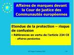 affaires de marques devant la cour de justice des communaut s europ ennes139
