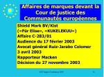 affaires de marques devant la cour de justice des communaut s europ ennes14
