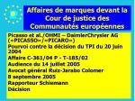 affaires de marques devant la cour de justice des communaut s europ ennes150