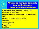 affaires de marques devant la cour de justice des communaut s europ ennes156