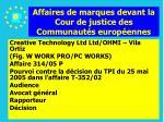 affaires de marques devant la cour de justice des communaut s europ ennes160