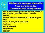 affaires de marques devant la cour de justice des communaut s europ ennes162