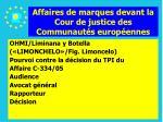 affaires de marques devant la cour de justice des communaut s europ ennes164