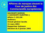 affaires de marques devant la cour de justice des communaut s europ ennes167