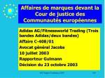 affaires de marques devant la cour de justice des communaut s europ ennes169