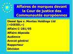 affaires de marques devant la cour de justice des communaut s europ ennes176
