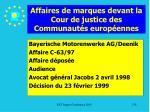 affaires de marques devant la cour de justice des communaut s europ ennes178