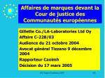 affaires de marques devant la cour de justice des communaut s europ ennes182
