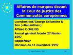 affaires de marques devant la cour de justice des communaut s europ ennes184