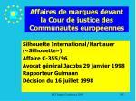 affaires de marques devant la cour de justice des communaut s europ ennes185
