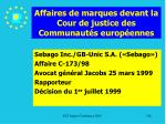 affaires de marques devant la cour de justice des communaut s europ ennes186