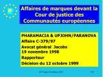 affaires de marques devant la cour de justice des communaut s europ ennes190