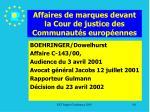affaires de marques devant la cour de justice des communaut s europ ennes191