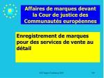 affaires de marques devant la cour de justice des communaut s europ ennes199