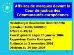 affaires de marques devant la cour de justice des communaut s europ ennes20