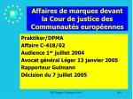 affaires de marques devant la cour de justice des communaut s europ ennes200