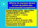 affaires de marques devant la cour de justice des communaut s europ ennes204