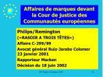 affaires de marques devant la cour de justice des communaut s europ ennes26