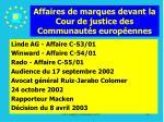 affaires de marques devant la cour de justice des communaut s europ ennes28
