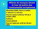 affaires de marques devant la cour de justice des communaut s europ ennes53