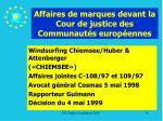 affaires de marques devant la cour de justice des communaut s europ ennes78