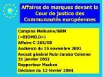 affaires de marques devant la cour de justice des communaut s europ ennes81