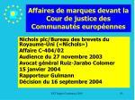 affaires de marques devant la cour de justice des communaut s europ ennes83