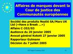 affaires de marques devant la cour de justice des communaut s europ ennes84