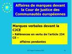 affaires de marques devant la cour de justice des communaut s europ ennes86