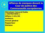 affaires de marques devant la cour de justice des communaut s europ ennes87
