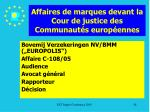 affaires de marques devant la cour de justice des communaut s europ ennes88
