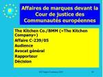 affaires de marques devant la cour de justice des communaut s europ ennes89