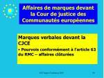 affaires de marques devant la cour de justice des communaut s europ ennes90