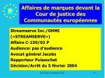 affaires de marques devant la cour de justice des communaut s europ ennes95