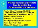 affaires de marques devant la cour de justice des communaut s europ ennes96