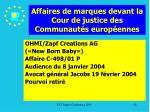 affaires de marques devant la cour de justice des communaut s europ ennes98