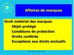 affaires de marques