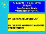 c 326 01 t 357 99 et 358 99 telefon und buch verlagsgmbh ohmi