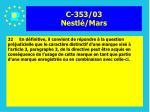 c 353 03 nestl mars