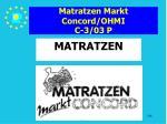 matratzen markt concord ohmi c 3 03 p