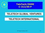 teletech ohmi c 312 05 p