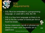 sql requirements